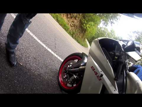 Ducati 848 Crash- Tail of the Dragon
