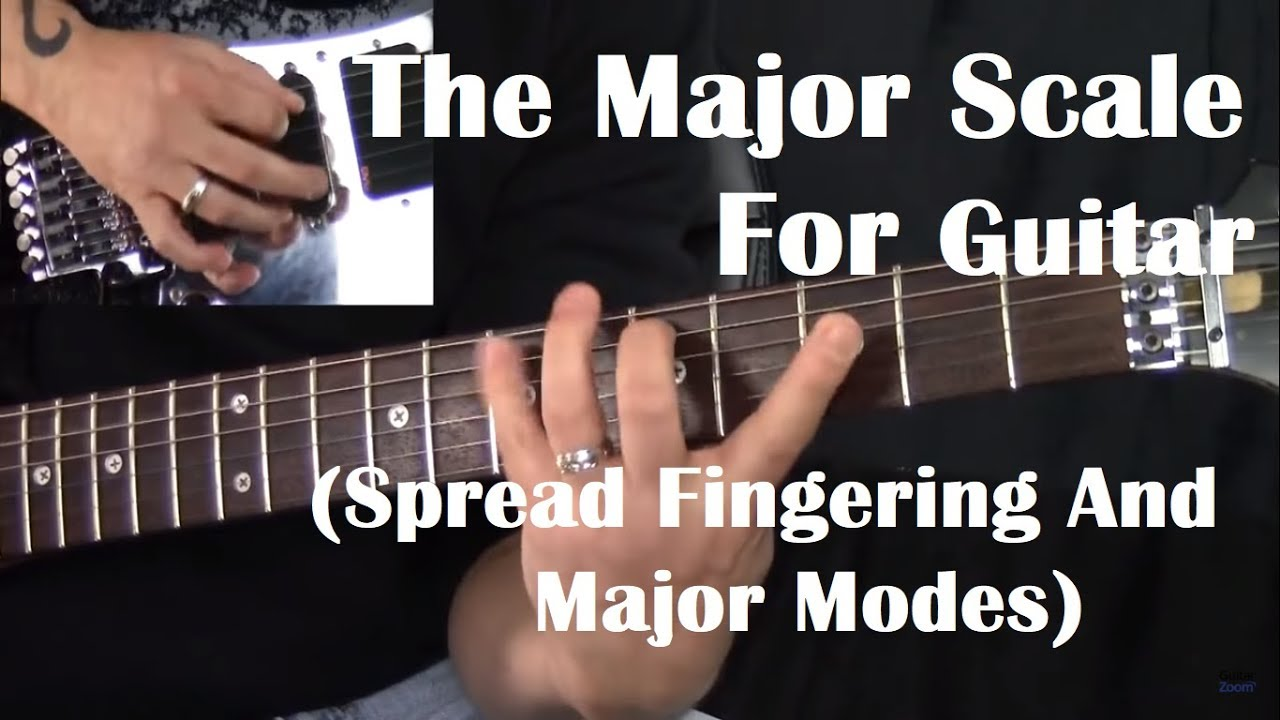The Major Scale – Guitar (Spread Fingering And Major Modes)