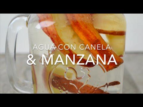 AGUA DETOX CON MANZANA Y CANELA