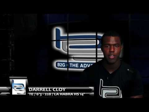 Cloy - '14 TE DARRELL CLOY talks Recruitment, Offers, and how #B2GEliteCamp has prepared him for D1. 2X B2G ELITE CAMP ALUMNI!! 2X FIVE STAR 7v7 TEAM!! Follow him @...