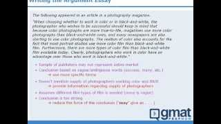 4 - GMAT Prep -  Writing The AWA Argument Essay