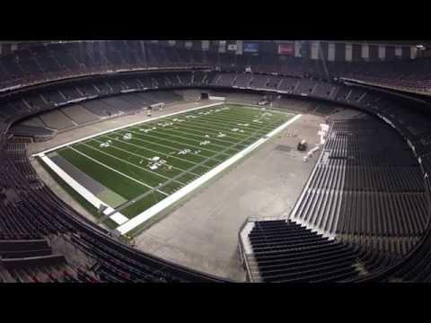 mercedes benz stadium minecraft. New Orleans Saints Turf Installation. Mercedes Benz Stadium Minecraft