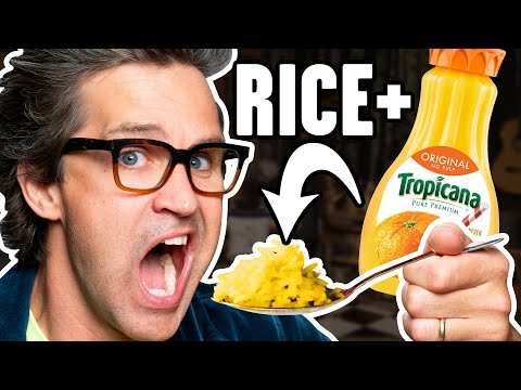 Cooking Rice In Different Liquids (Taste Test)