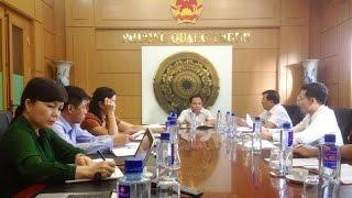 Đoàn công tác HĐND thành phố làm việc với phường Quang Trung