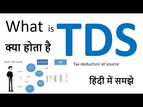 What is TDS | tds | Tax deduction at source | how to calculate tds