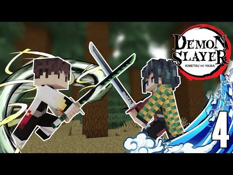 TRAINING WITH THE WATER HASHIRA! - Demon Slayer Minecraft Mod 4
