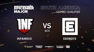 Infamous vs Ego boys, EPICENTER Major 2019 SA Closed Quals , bo3, game 2 [Eiritel]