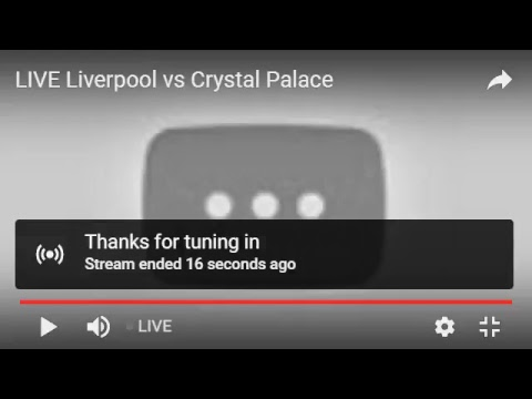 LIVE : Liverpool Vs Crystal Palace