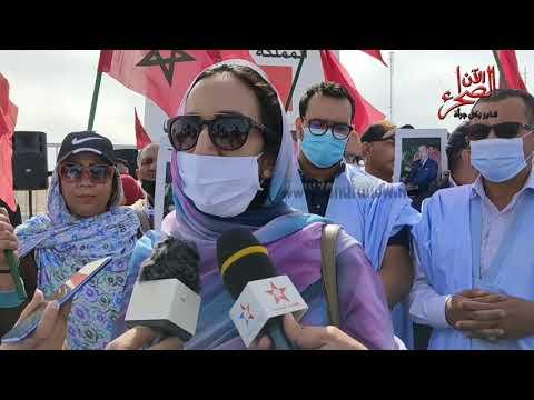 شاهد وصول التنسيقية الجهوية للاحرار و اللجنة الوطنية لقضية الصحراء الى الكركرات