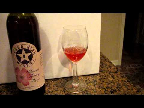 Hibiscus Flower Wine -- Texas Star Winery; Richards, Texas