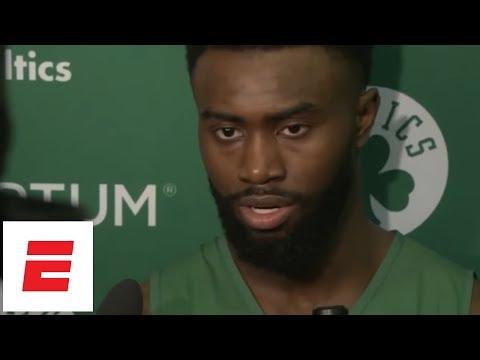 [FULL] Jaylen Brown explains how Celtics were able to overcome LeBron James' huge Game 2   ESPN