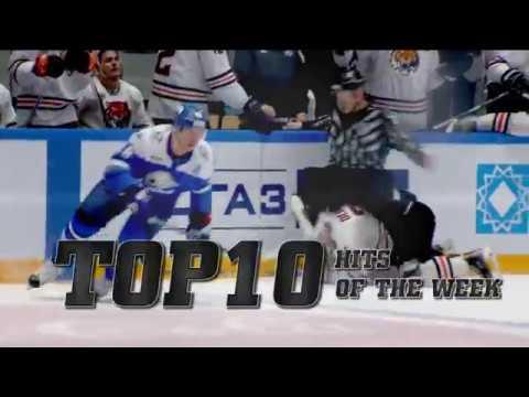 KHL Top 10 Hits for Week 13 (видео)