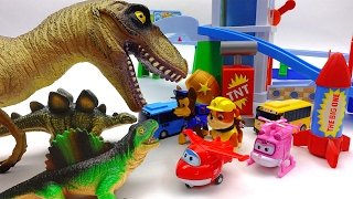 Video Giant Dinosaur Alert!!! Super Wings, Paw Patrol Protect Tayo Village MP3, 3GP, MP4, WEBM, AVI, FLV Oktober 2018