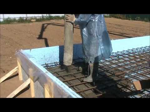 Плиточный фундамент своими руками видео