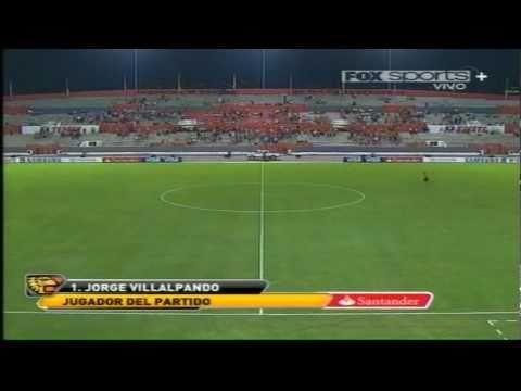 Gran actuación de Villalpando en el partido Jaguares vs Emelec