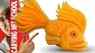 Video Art in pumpkin, arte em abóbora, Peixe em abóbora, Fish in pumpkin, tallado en frutas MP3, 3GP, MP4, WEBM, AVI, FLV April 2019