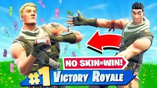 NO SKIN CHALLENGE in Fortnite: Battle Royale