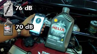 9. Honda ENGINE SOUND TEST - Synthetic vs Mineral Oil Shell Helix Ultra 5w-40 vs 20w-50