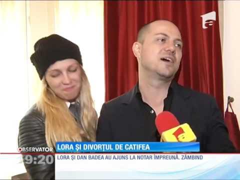 """Lora şi Dan Badea au divorţat! Cei doi şi-au spus """"Adio"""""""