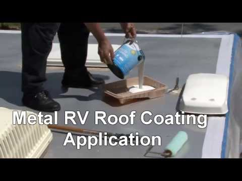 How To Apply Dicor Metal RV Roof Coating | The #1 RV Video Education  Training Source RV 101®