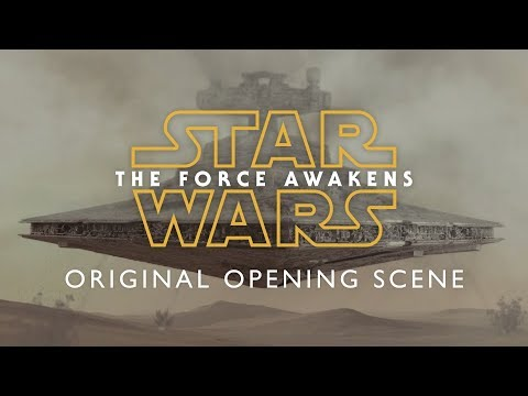 I animated the original Force Awakens Star Destroyer crash opening scene from early Disney production storyboards that never made it to screen.