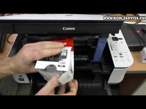 Как заменить чернила в принтере canon mp280