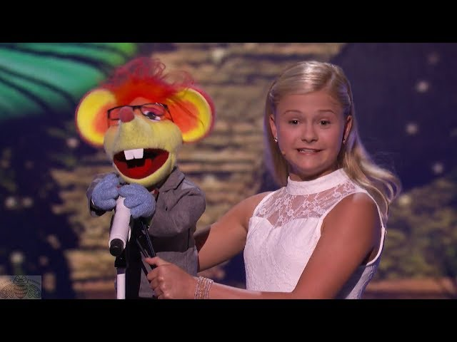 America\'s Got Talent 2017 Darci Lynne Performance & Comments Live Shows S12E13