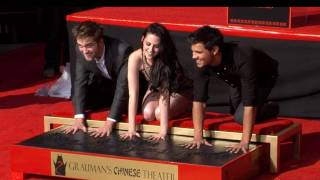 Breaking Dawn Handprint Ceremony - Robert Pattinson, Kristen Stewart, Taylor Lautner (2011)