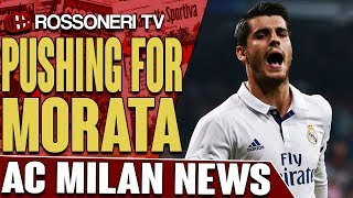 AC Milan are pushing to sign Real Madrid striker Alvaro Morata.SUBSCRIBE for more AC Milan videos: http://www.RossoneriTV.comSUPPORT Rossoneri TV by making a donation: http://patreon.com/rossoneritvFOLLOW our social media accounts:► Twitter: http://www.twitter.com/RossoneriTV► Facebook: http://www.facebook.com/RossoneriTV► Instagram: http://www.instagram.com/RossoneriTV► Google+: http://plus.google.com/+RossoneriTVChannel