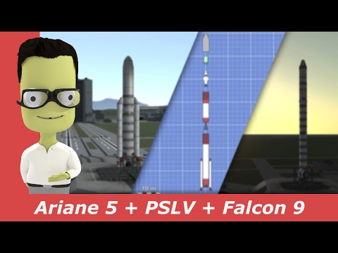 SpaceX Falcon 9, PSLV-XL and Ariane 5 Launch | kNews W.07/2017