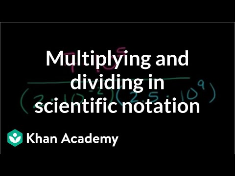 Multiplying Dividing In Scientific Notation Video Khan Academy