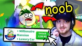 NOOB With A MILLIONAIRE MANSION & LUXURY CAR In Adopt Me