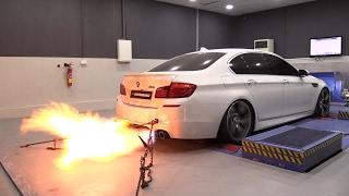 785HP BMW M5 F10 Arkapovic PP Performance - Dyno Run + INSANE FLAMES!