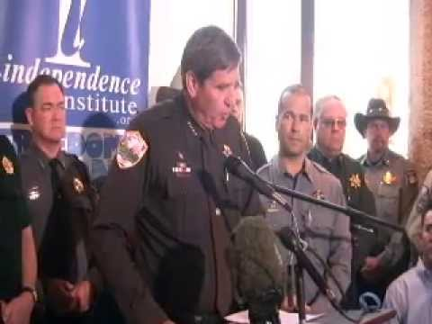 GUN - The Independence Institute held a press conference on May 17, 2013 announcing the lawsuit against the new anti-gun bills passed by the Colorado legislature a...