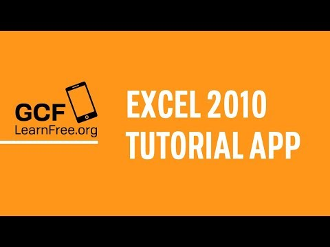 Video of GCF Excel 2010 Tutorial