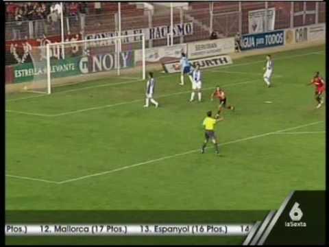 Gol de Saizar con el Murcia