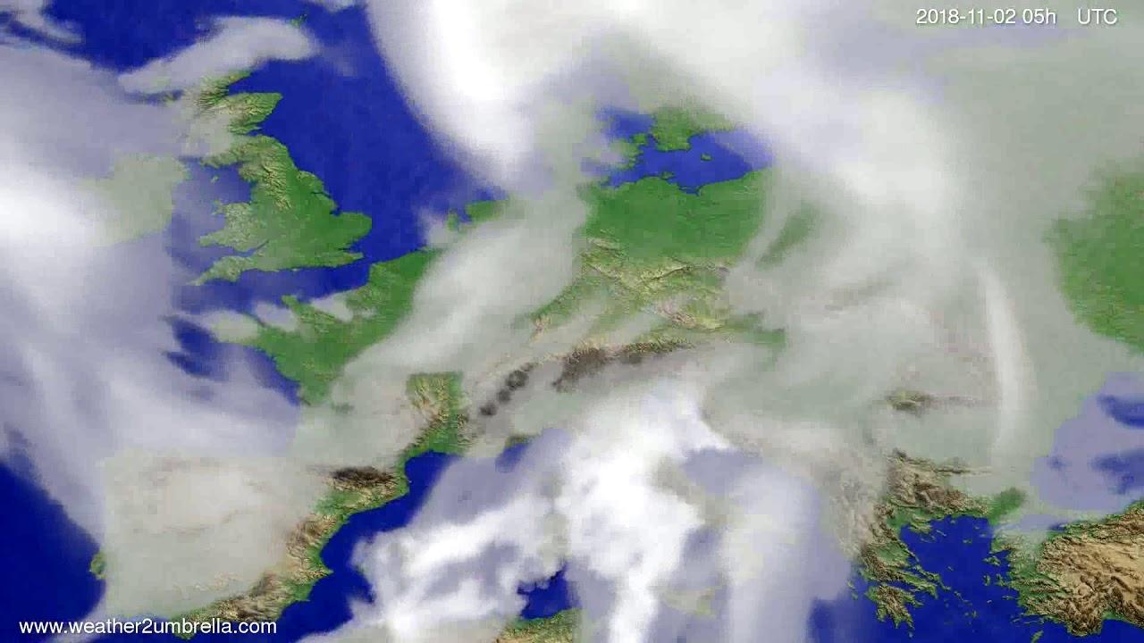 Cloud forecast Europe 2018-10-30