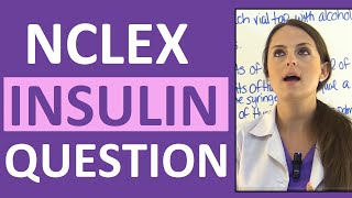 NCLEX pharmacology practice question on Insulin for the patient with diabetes mellitus. This NCLEX-style question will test your knowledge about Insulin Lispro (Humalog) and wants to know when the patient is at most risk for hypoglycemia based on the time you administered the medication.  On the NCLEX exam, it is inevitable you will receive pharmacology type questions. This particular NCLEX practice question will require you to determine what type of insulin Lispro is (rapid, short, intermediate, or long-acting) and when a patient is at most risk for hypoglycemia (onset, peak, duration).This video is part of a weekly NCLEX review series where I will be going over NCLEX-style questions with you. I will be helping you analyze and breakdown each question, and walk you through how to select the correct option. NCLEX questions require critical thinking and you must know how to use your nursing knowledge to gather the facts and analyze what the question is asking. NCLEX Pharmacology Practice Question on Insulin: Your patient's blood glucose level is 215 mg/dL. The patient is about to eat lunch. Per sliding scale, you administer 4 units of Insulin Lispro (Humalog) subcutaneously at 1130. As the nurse, you know the patient is most at risk for hypoglycemia at what time? A. 1145B. 1230C. 1430D. 1630Watch the video for the correct answer and rationale. Free NCLEX practice quizzes: http://www.registerednursern.com/nursing-student-quizzes-tests/Notes: http://www.registerednursern.com/nclex-practice-question-on-insulin/More NCLEX Weekly Questions: https://www.youtube.com/playlist?list=PLQrdx7rRsKfW4sKVpfklFFvhvBNjQazHbSubscribe: http://www.youtube.com/subscription_center?add_user=registerednursernNursing School Supplies: http://www.registerednursern.com/the-ultimate-list-of-nursing-medical-supplies-and-items-a-new-nurse-student-nurse-needs-to-buy/Visit our website RegisteredNurseRN.com for free quizzes, nursing care plans, salary information, job search, and much more: http://www