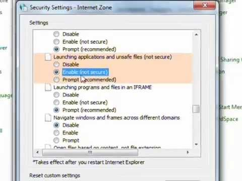 how to eliminate security warning ie8