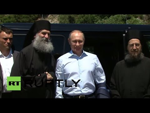 Putin u poseti Svetoj Gori