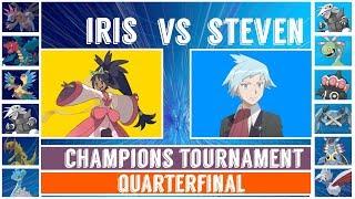 Steven vs. Iris (Pokémon Sun/Moon) - Champions Tournament/Quarterfinal