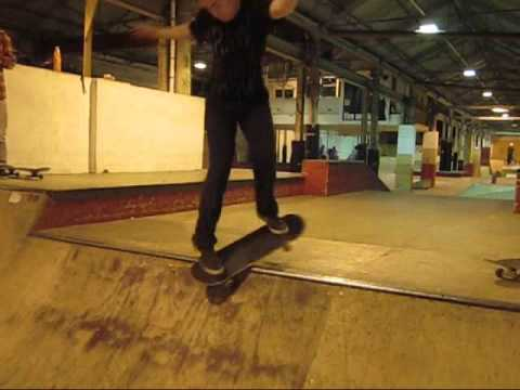 Mike Wright Works Skatepark tech mini ramp session
