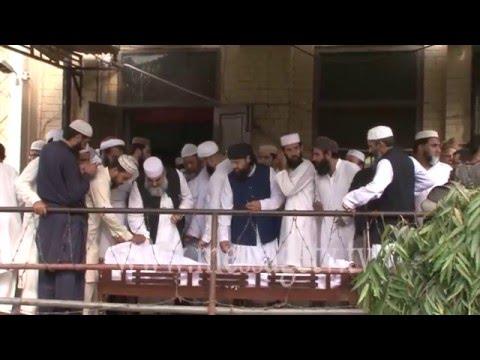 Video Bayan on funeral of Maulana Ubaidullah al Mufti in Jamia ashrafia 11 March 2016 download in MP3, 3GP, MP4, WEBM, AVI, FLV January 2017
