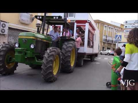 Hermandad del Rocío de Isla Cristina a su paso por Gibraleón 2019.