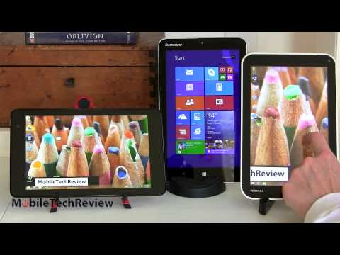 Dell Venue 8 Pro and Lenovo Miix 2 8 and Toshiba Encore 3 way Comparison Smackdown