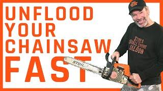 Video How Do I Quickly Unflood a Chainsaw Using NO Tools? MP3, 3GP, MP4, WEBM, AVI, FLV September 2019