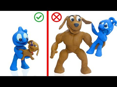 Clay Mixer Pet Care For Huge Puppy Dog 💖 Animation Cartoons Play Doh