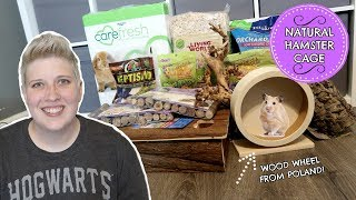 NATURAL HAMSTER CAGE PART 2 | GIANT NATURAL HAMSTER HAUL by Pickles12807
