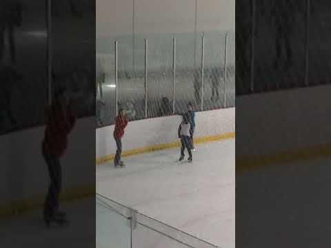 Jordyn and friends ice-skating