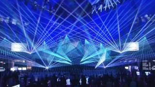 PRG/LEA Stage auf der prolight+sound 2016 - Lasershow mit Laserworld lasern